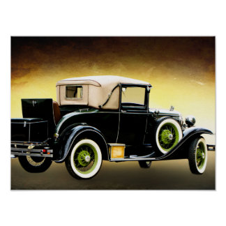 old timer car poster