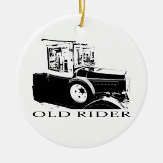 Old timer ceramic ornament