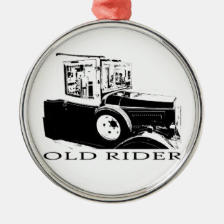 Old timer metal ornament