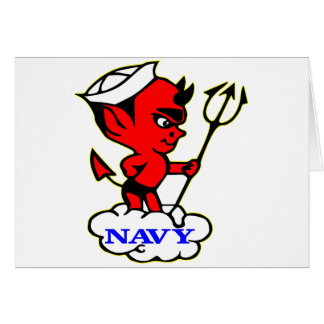 Old Timer Navy Red Devil Card
