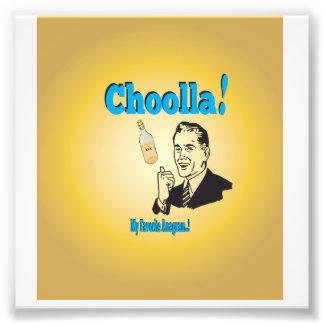 Old-Timey Choolla Alcohol Anagram Humor Photo Print