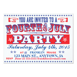 Old Timey Fourth of July Party Invitation