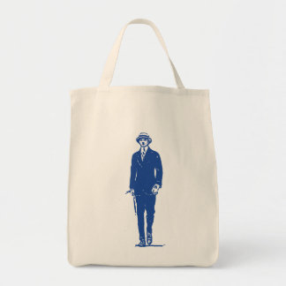 Old Timey Gentleman Grocery Bag