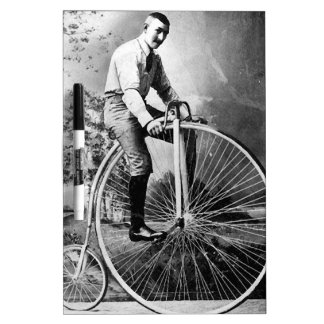 Old' Timey Pennyfarthing Victorian Bicycle Dry-Erase Board