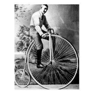 Old' Timey Pennyfarthing Victorian Bicycle Postcard