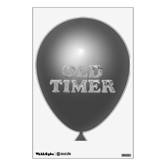 Old Timmer Balloon Wall Decal