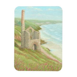 Old Tin Mine, Coast Path, Cornwall Photo Magnet