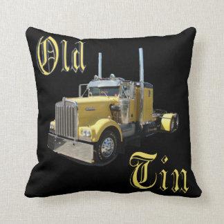 Old Tin Trucker's Pillow