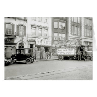 Old Tire Shop, 1920s Card