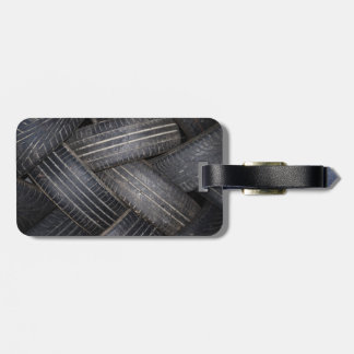 Old Tires for Recycling Bag Tag