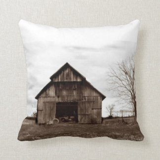 Old Tobacco Barn Throw Pillow