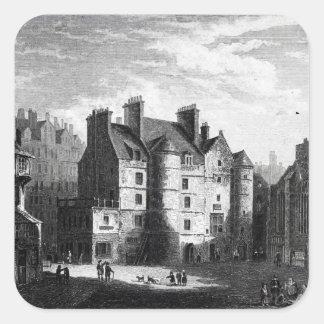 Old Tolbooth, Edinburgh Square Sticker