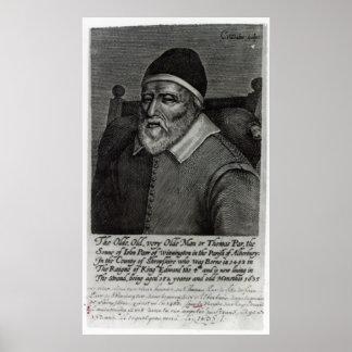 Old Tom Parr, 1635 Poster