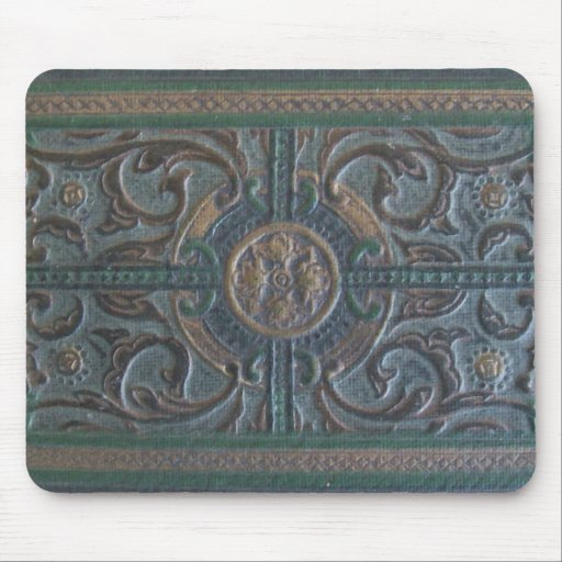 Old Tooled Leather Journal Mouse Pad