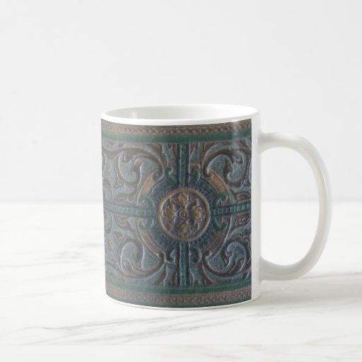 Old Tooled Leather Journal Classic White Coffee Mug