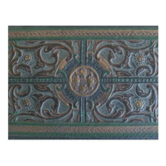 Old Tooled Leather Journal Postcard