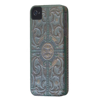 Old Tooled Leather Relic Case-Mate iPhone 4 Case