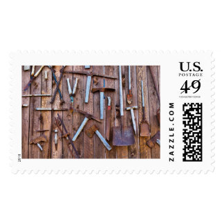 Old tools of the farm postage