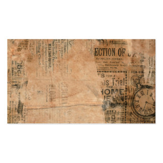 Old Torn Vintage Newspaper One Business Card Template