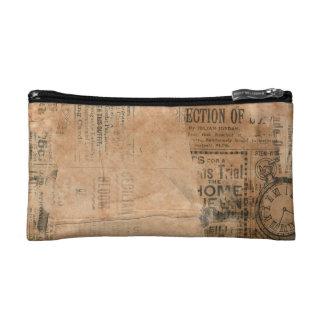 Old Torn Vintage Newspaper One Cosmetic Bag