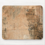 Old Torn Vintage Newspaper One Mouse Pad