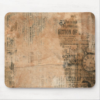 Old Torn Vintage Newspaper One Mouse Pad