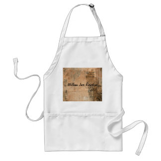 Old Torn Vintage Newspaper One Personalized Adult Apron