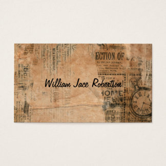 Old Torn Vintage Newspaper One Personalized Business Card