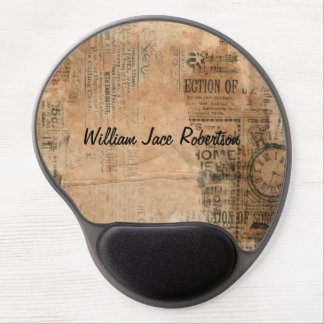 Old Torn Vintage Newspaper One Personalized Gel Mouse Pad