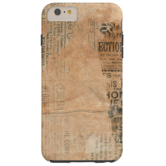 Old Torn Vintage Newspaper One Tough iPhone 6 Plus Case