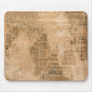 Old Torn Vintage Newspaper Two Mouse Pad