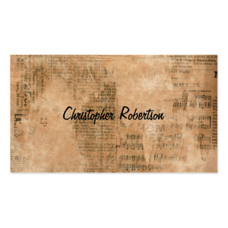 Old Torn Vintage Newspaper Two Personalized Business Card Templates