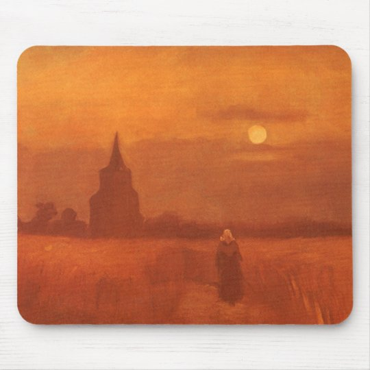 Old Tower in the Fields by Vincent van Gogh Mouse Pad