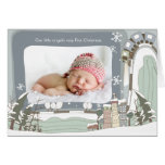 Old Town 1st Christmas Photo Greeting Card