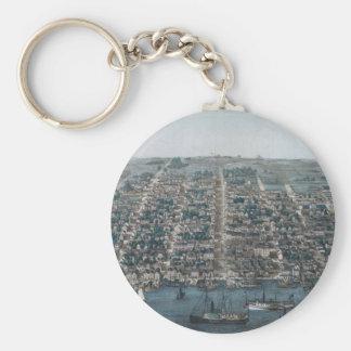 Old Town Alexandria Basic Round Button Keychain