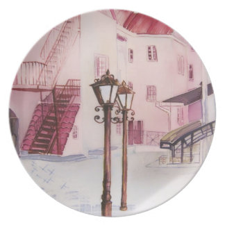 Old town art plate