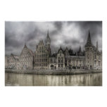 old town center OF ghent Print