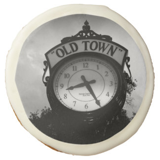 Old Town Clock Sugar Cookie