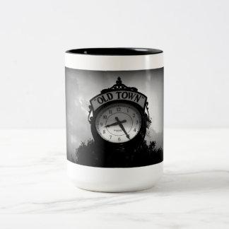 Old Town Clock Two-Tone Coffee Mug