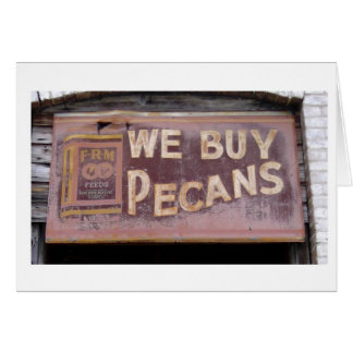 Old Town Country Store Pecan Sign Card