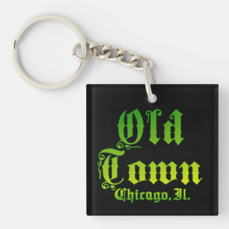 Old Town Custom Square (double-sided) Keychain