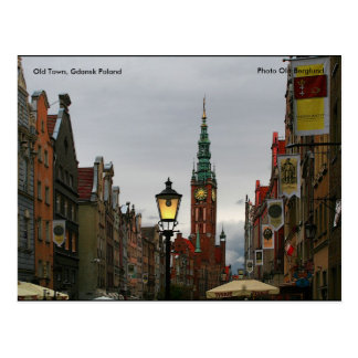 Old Town, Gdansk Poland, Photo O... Post Card