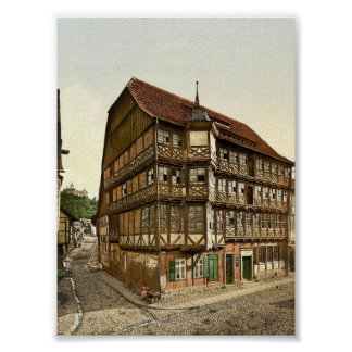 Old town hall and castle, Wernigerode, Hartz, Germ Posters