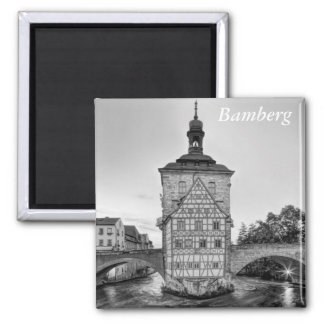 Old Town Hall and Obere Bridge in Bamberg Magnet