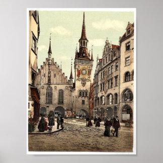 Old Town Hall, Munich, Bavaria, Germany magnificen Print