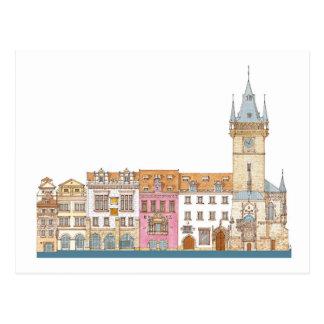 Old Town Hall. Prague Czech Postcard
