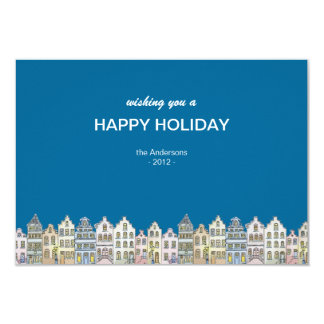 Old Town Houses - Customise Christmas Card