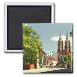 Old Town in Wroclaw 2 Inch Square Magnet