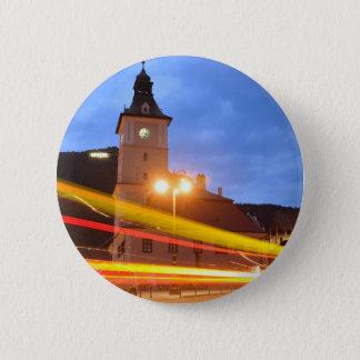 Old town of Brasov in Transylvania, Romania Pinback Button