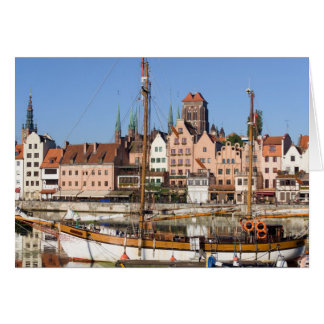 Old Town of Gdansk in Poland Stationery Note Card